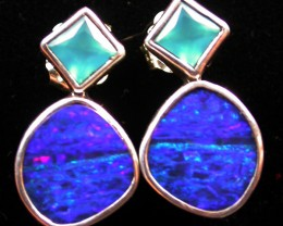 16.60 CTS DOUBLET EARRING/CHALCENDONY-FACTORY DIRECT SOJ1179