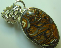 HAND MADE SILVER STAMP 925 BOULDER OPAL PENDANT 35.55 CTS A8748