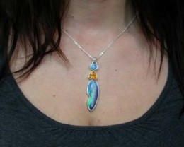 a grade doublet and firey brazil natural opal-stunning