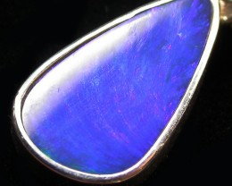 13 CTS OPAL DOUBLET PENDANT-DIRECT FACTORY-SILVER [SOJ1270]