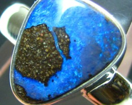 NEW LINE - SILVER STAMPED 925 BOULDER OPAL RING SIZE USA 7 A8820