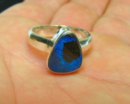 BRAND NEW STERLING SILVER STAMPED 925 BOULDER OPAL RING