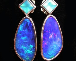22.85 CTS DOUBLET EARRING/CHALCENDONY-FACTORY DIRECT SOJ1293