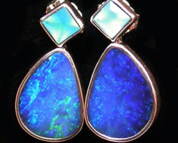 21.95 CTS DOUBLET EARRING/CHALCENDONY-FACTORY DIRECT SOJ1295