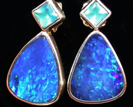 23.80 CTS DOUBLET EARRING/CHALCENDONY-FACTORY DIRECT SOJ1296