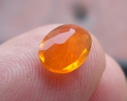 Faceted Fire Mexican Opal 0.80 Carats.