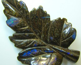 "BOULDER CARVING "" LEAF "" TOP POLISH GREAT PIECE 48.19 CTS A8872"
