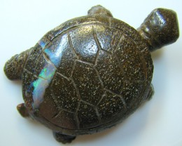 "BOULDER CARVING "" TORTOISE ""TOP POLISH PIECE 61.40 CTS A8900"