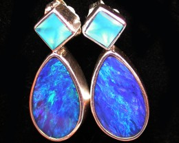19.95 CTS DOUBLET EARRING/CHALCENDONY-FACTORY DIRECT SOJ1323