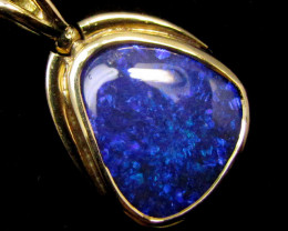 DOUBLE SIDED BLACK OPAL PENDANT    18 K  GOLD   CK 409