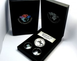 DIAMONDS  OPAL & KOOKABURRA  SILVER COIN SERIES -KM 10