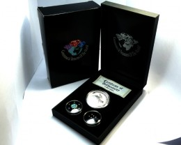 DIAMONDS  OPAL & KOOKABURRA  SILVER COIN SERIES -KM 08
