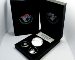 DIAMONDS  OPAL & KOOKABURRA  SILVER COIN SERIES -KM 16