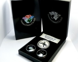 TREASURES DIAMONDS  OPAL & KOOKABURRA  SILVER COIN SERIES -KM 19
