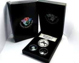 DIAMONDS  OPAL & KOOKABURRA  SILVER COIN SERIES -KM 17