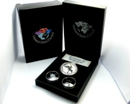 DIAMONDS  OPAL & KOOKABURRA  SILVER COIN SERIES -KM 20