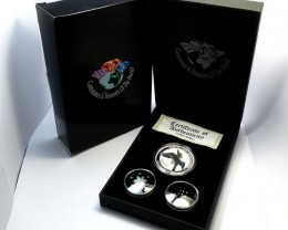 DIAMONDS  OPAL & KOOKABURRA  SILVER COIN SERIES -KM 06