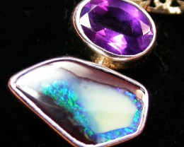 10.40 CTS BOULDER AND AMETHYST PENDANT-FACTORY [SOJ1397]5