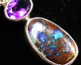 11.00 CTS BOULDER AND AMETHYST PENDANT-FACTORY [SOJ1402]