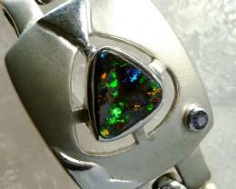 EXPLOSIVE GREEN FIRE BOULDER OPAL BRACELET BU1622