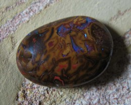 NATURAL BOULDER OPAL double sided 4ct nbo/68