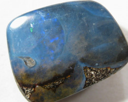 Drilled Boulder Opal. Home of the Western Brown Snake.