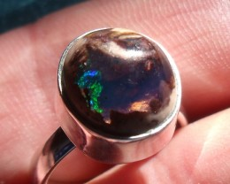 MATRIX OPAL GEM & SILVER FASHION RING Sz 6