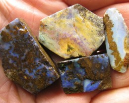 """4 PC~BOULDER OPAL ROUGH """"RUBS"""",146.80.CTS FROM O/L"""