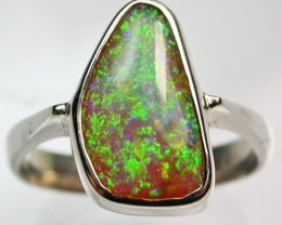 8 RING SIZE BOULDER OPAL RING--FACTORY DIRECT - [SOJ1533]SH