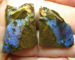 BOULDER OPAL SPLIT SHAPED GREAT TO MAKE EARRINGS 65.50 CTS