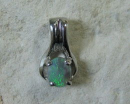 SOLID OPAL 925 SILVER PENDANT SSP/43