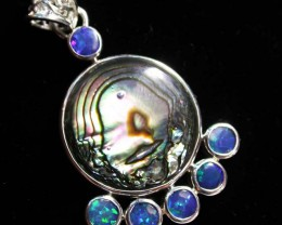 28.10 CTS ABALONE DOUBLET PENDANT -FACTORY [SOJ 1604]