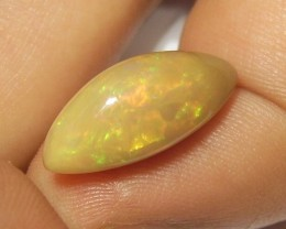 5.00ct MARVELLOUS BROWN ETHIOPIAN WELLO GEM OPAL RED GREEN FIRE (G20)
