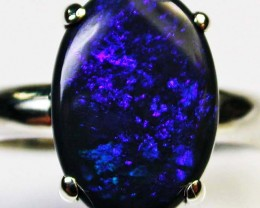 9 RING SIZE SOLID OPAL  FACTORY DIRECT [SOJ1685]SH