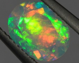 1.37CT~BRILLIANT ETHIOPIAN WELO OPAL~FACETED OVAL