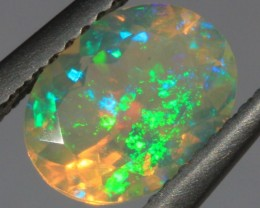 1.2CT~BRILLIANT ETHIOPIAN WELO OPAL~FACETED OVAL