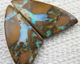 RARE VERY HARD TO GET~GREAT PAIR BOULDER OPALS,114.00.CTS.