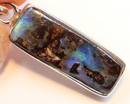 20.25 CTS BOULDER OPAL PENDANT STERLING SILVER 925 A9531