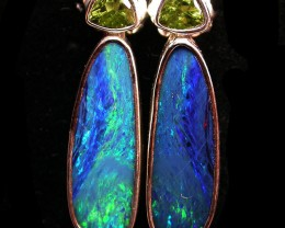 23 CTS DOUBLET EARRING WITH PERIDOT-DIRECT FACTORY [SOJ1848]