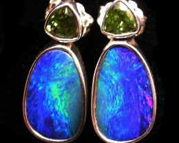 19 CTS DOUBLET EARRING WITH PERIDOT-DIRECT FACTORY [SOJ1849]