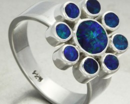 7 RING SIZE DOUBLET CLUSTER  RING -FACTORY DIRECT [SOJ1398]