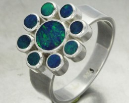 7 RING SIZE DOUBLET CLUSTER  RING -FACTORY DIRECT [SOJ1400 ]