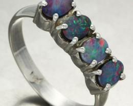 10 RING SIZE DOUBLET CLUSTER  RING -FACTORY DIRECT[SOJ1409]