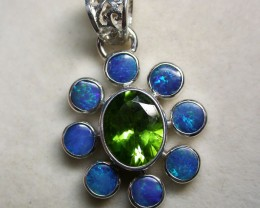28 CTS DOUBLET PENDANT WITH PERIDOT [SOJ1435 ]