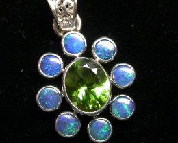24 CTS DOUBLET PENDANT WITH PERIDOT [SOJ1437]