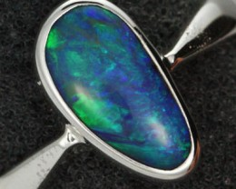 7 RING SIZE NATURAL  BOULDER OPAL RING  [SOJ1931 ]SH