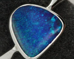 7 RING SIZE NATURAL  BOULDER OPAL RING  [SOJ1932]SH
