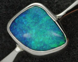7 RING SIZE NATURAL  BOULDER OPAL RING  [SOJ1936 ]SH