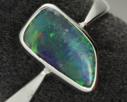 7 RING SIZE NATURAL  BOULDER OPAL RING  [SOJ1942 ]SH