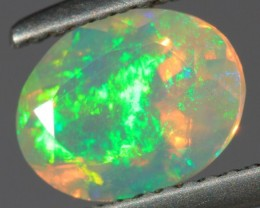 1.12CT~BRIGHT ETHIOPIAN WELO OPAL~FACETED OVAL